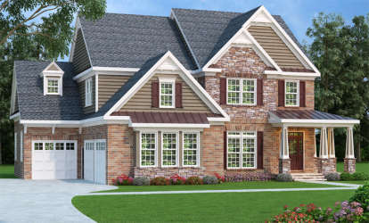 5 Bed, 5 Bath, 3207 Square Foot House Plan - #009-00092