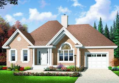 2 Bed, 1 Bath, 1186 Square Foot House Plan - #034-00673