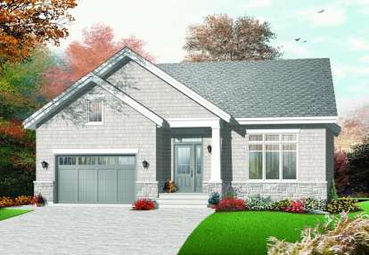 3 Bed, 1 Bath, 1390 Square Foot House Plan - #034-00683