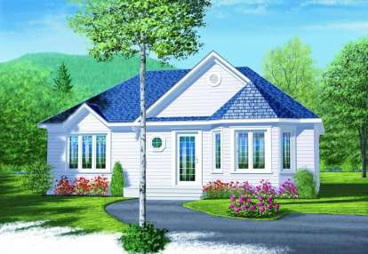 2 Bed, 1 Bath, 958 Square Foot House Plan - #034-00684