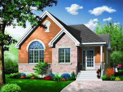 3 Bed, 1 Bath, 1253 Square Foot House Plan - #034-00694