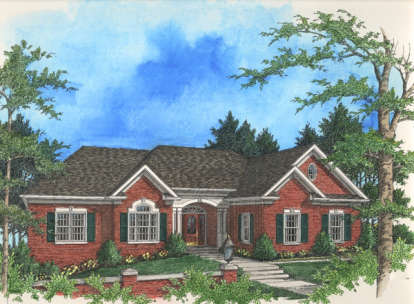 3 Bed, 2 Bath, 2398 Square Foot House Plan - #036-00110