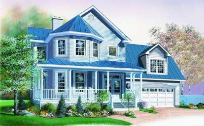 3 Bed, 2 Bath, 1770 Square Foot House Plan #034-00708