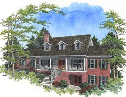 3 Bed, 2 Bath, 2341 Square Foot House Plan - #036-00111