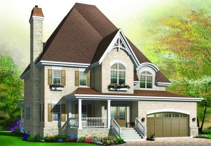 4 Bed, 3 Bath, 3037 Square Foot House Plan - #034-00735