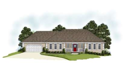 3 Bed, 2 Bath, 2485 Square Foot House Plan - #036-00113