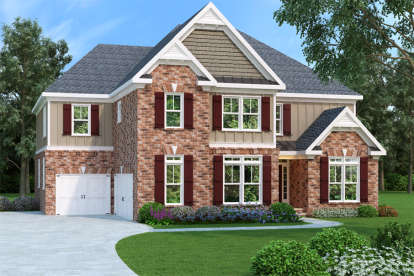 4 Bed, 4 Bath, 3687 Square Foot House Plan - #009-00093