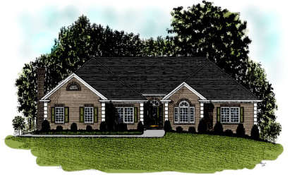 4 Bed, 2 Bath, 2499 Square Foot House Plan - #036-00114