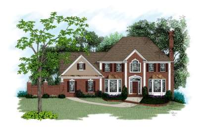 4 Bed, 2 Bath, 2460 Square Foot House Plan - #036-00115