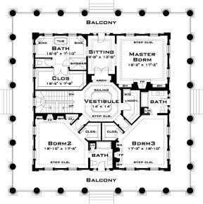 Second Floor for House Plan #028-00055