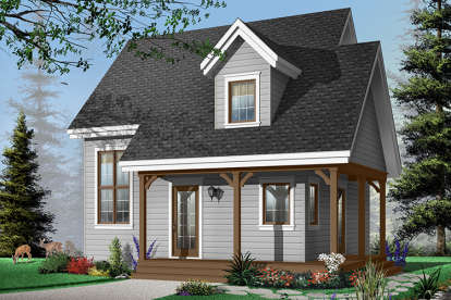 2 Bed, 2 Bath, 1200 Square Foot House Plan - #034-00772