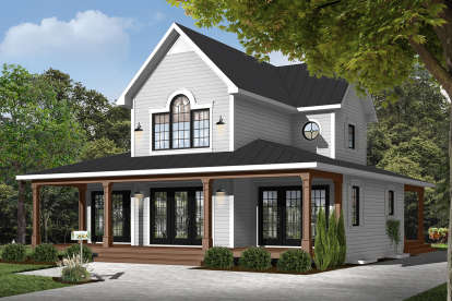3 Bed, 2 Bath, 1955 Square Foot House Plan - #034-00777