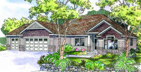 Country House Plan #035-00335 Elevation Photo
