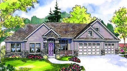 3 Bed, 3 Bath, 3201 Square Foot House Plan - #035-00336