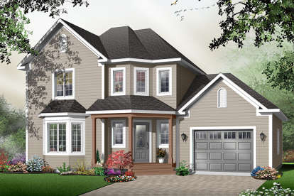 3 Bed, 2 Bath, 1656 Square Foot House Plan #034-00828