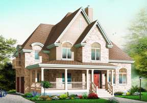 Country House Plan #034-00839 Elevation Photo