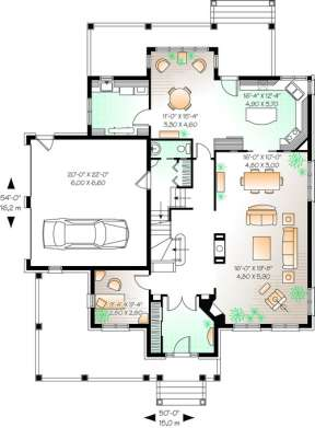 Floorplan 1 for House Plan #034-00839