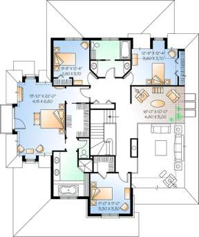 Floorplan 2 for House Plan #034-00839