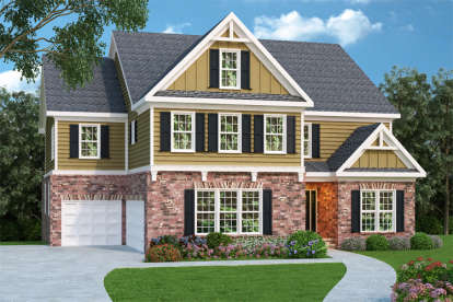 4 Bed, 4 Bath, 3701 Square Foot House Plan - #009-00094