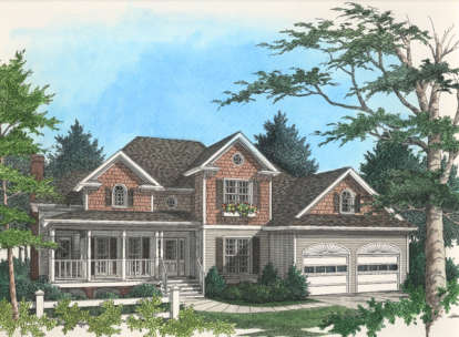 3 Bed, 2 Bath, 2484 Square Foot House Plan - #036-00117