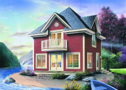 1 Bed, 1 Bath, 1152 Square Foot House Plan - #034-00865