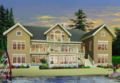 7 Bed, 6 Bath, 9028 Square Foot House Plan - #034-00875