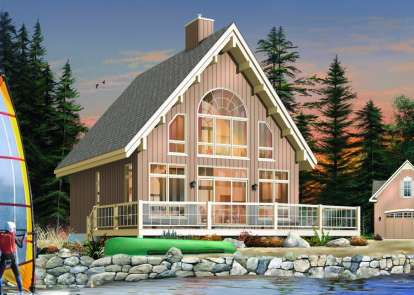 3 Bed, 2 Bath, 1301 Square Foot House Plan #034-00878