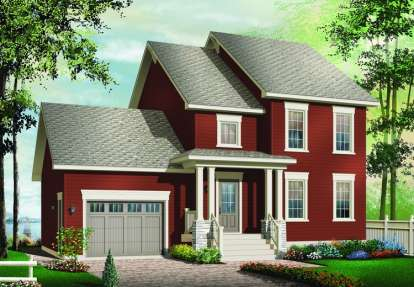 3 Bed, 2 Bath, 1595 Square Foot House Plan - #034-00884