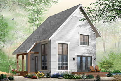 2 Bed, 1 Bath, 1050 Square Foot House Plan - #034-00886