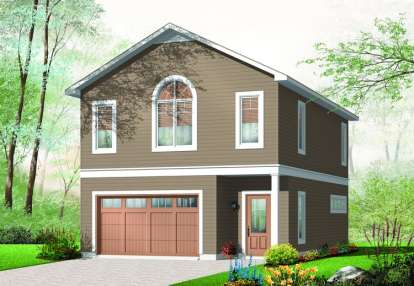 1 Bed, 1 Bath, 1015 Square Foot House Plan - #034-00892