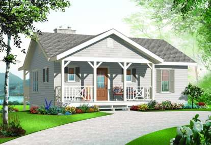 3 Bed, 2 Bath, 1664 Square Foot House Plan - #034-00894
