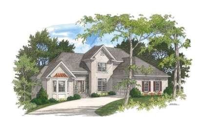4 Bed, 2 Bath, 2532 Square Foot House Plan - #036-00121