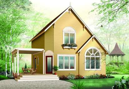 2 Bed, 2 Bath, 1295 Square Foot House Plan - #034-00940