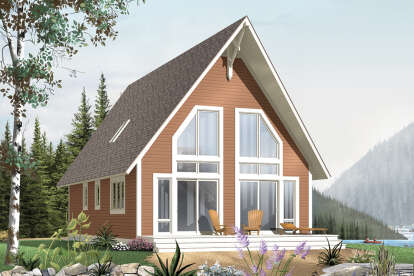 2 Bed, 1 Bath, 1304 Square Foot House Plan - #034-00941