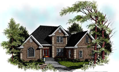 4 Bed, 3 Bath, 2601 Square Foot House Plan - #036-00126