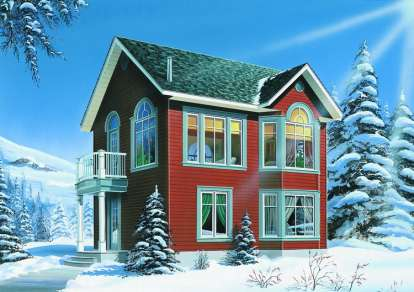 2 Bed, 2 Bath, 1142 Square Foot House Plan - #034-00958