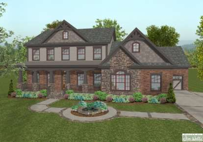 4 Bed, 4 Bath, 2697 Square Foot House Plan - #036-00129