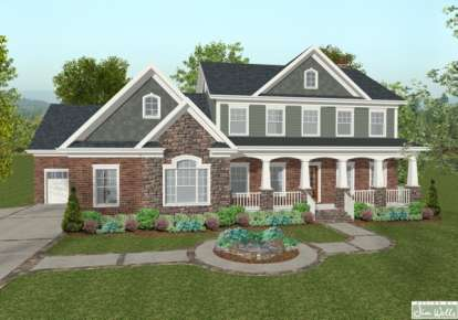 4 Bed, 4 Bath, 2697 Square Foot House Plan - #036-00130