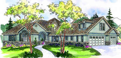 4 Bed, 3 Bath, 3565 Square Foot House Plan - #035-00338