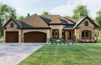 4 Bed, 3 Bath, 2788 Square Foot House Plan - #963-00068
