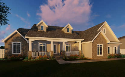 3 Bed, 2 Bath, 2471 Square Foot House Plan - #963-00078