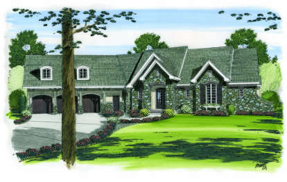 2 Bed, 2 Bath, 3887 Square Foot House Plan - #963-00081