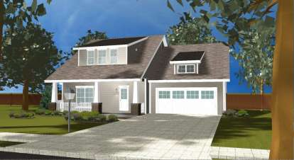 3 Bed, 2 Bath, 1618 Square Foot House Plan - #963-00094