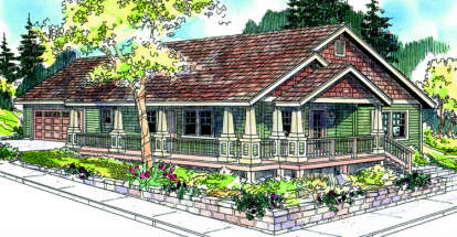 3 Bed, 2 Bath, 1265 Square Foot House Plan #035-00342