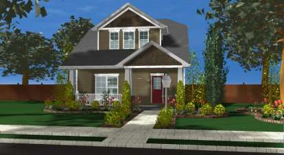 2 Bed, 2 Bath, 1441 Square Foot House Plan - #963-00101