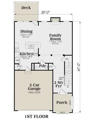 Main Floor for House Plan #009-00096