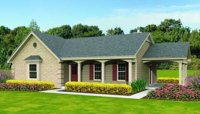 3 Bed, 2 Bath, 1246 Square Foot House Plan - #053-02584