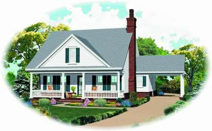 3 Bed, 0 Bath, 1659 Square Foot House Plan - #053-02586