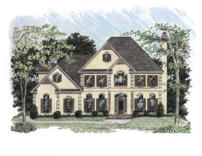 4 Bed, 3 Bath, 2897 Square Foot House Plan - #036-00133