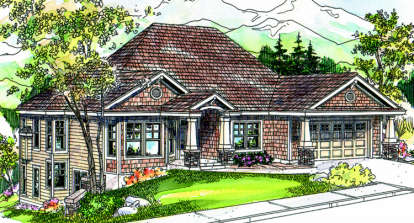 3 Bed, 3 Bath, 3022 Square Foot House Plan - #035-00345